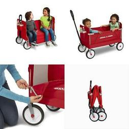 Radio Flyer Wagon, EZ Fold 3-in-1 Padded Seat w/Seat Belts,