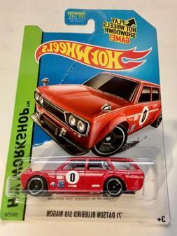 🏁 Hot Wheels Red '71 Datsun Bluebird 510 Wagon 🏁