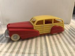 Red & Yellow Plastic Woody Station Wagon Dimestore Dreams Ca