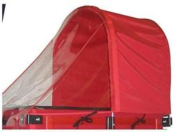 Millside Red Half Canopy with Removable Clear Weather Shield