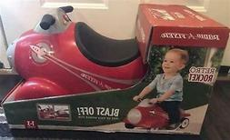 Radio Flyer Retro Rocket Vintage Red Ride-On Toy - Lights, S