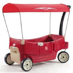 Ride On Car Stroller Wagon Cart Canopy Plastic Push Toy Kid
