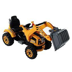 Aosom 6V Kids Ride On Toy Digger Construction Excavator Trac