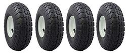 """Ranch Tough 4 Pack RT310 10"""" Pneumatic Replacement Tires for"""