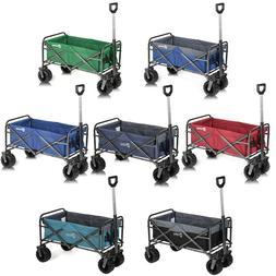 Folding Wagon Collapsible Garden Beach Utility Push Cart Hea