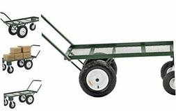 Sandusky FW4824 Heavy Duty Steel 4 Wheel Flat Wagon with Pul