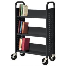Sandusky Cabinets Sloped-Shelf Book Cart Black