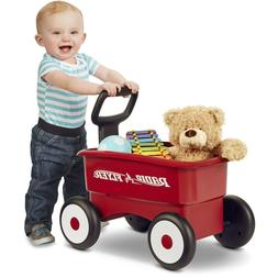 Small Wagon Ride On Toy Toddler Walker Kids Play Push Pull C
