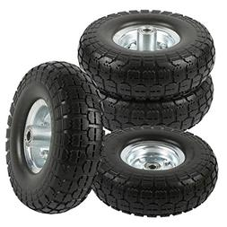 "go2buy 4-Pack 10"" Solid Rubber Tyre Wheels Garden Wagon Cart"