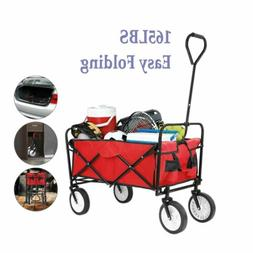 Sports Collapsible Folding Wagon Shopping Cart Utility Outdo
