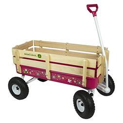 TOMY John Deere Steel Stake Wagon, Dark Pink