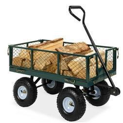 Steel Garden Tool Utility Cart Wagon w/ 400lb Capacity Remov