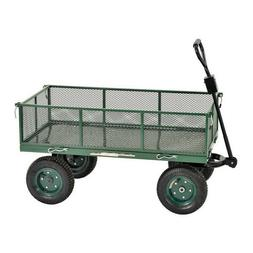 Steel Garden Utility Wagon Heavy Duty Pull Cart 1,000 lb Cap