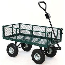 Steel Utility Cart 800 lbs, 48 x 24 x 25 inches , Green