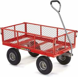 Gorilla Carts GOR800-COM Steel Utility Cart with Removable S