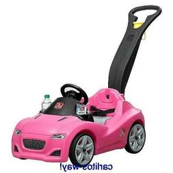 STEP 2 WHISPER RIDE CRUISER PUSH SPORTS CAR RIDE ON TOY PINK