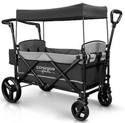 Stroller Wagon 2 Passenger Baby Toddler Kids Travel Gray Pus