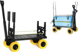 Surf Fishing Cart 4 Wheel Trolley Carts for the Beach Dolly