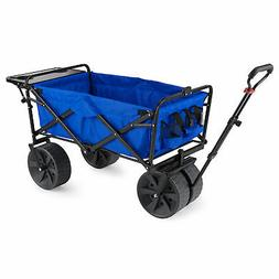 All-Terrain Folding Wagon with Table - 150lb Capacity over d
