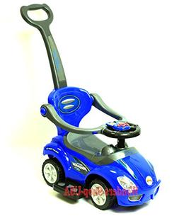 WONDERS SHOP USA - New Kid Ride On DELUXE MEGA CAR 3 In 1 BL