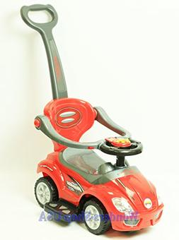 New Kid DELUXE MEGA CAR 3 In 1 RED Car Toddler Wagon Handle