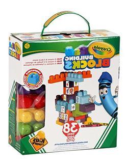 Crayola Kids at Work Customizable Building Blocks Boxed Play