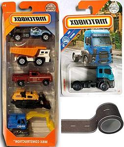 Tractor Truck Matchbox Set 2018 5-Pack Construction Vehicles