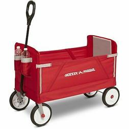 Radio Flyer Trail Folding Wagon Cart Collapsible Terrain Uti