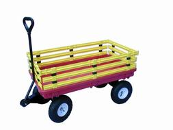 Millside Industries Trekker Wagon with Yellow Removable Poly