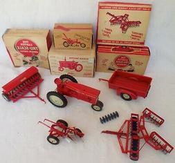 True-Scale Farm Tractor,Wagon Trailer,Tandem Disc,Grain Dril