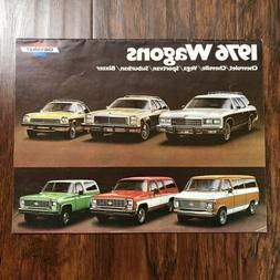 Vtg Chevrolet 1976 Wagons Sales Brochure Chevelle Vega Sport