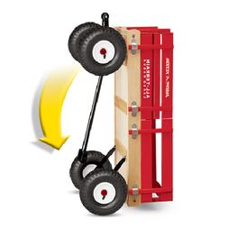 Wagon for Kids Red Ride Outdoor Wood Toy All Terrain Pull Ca