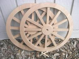 WAGON & CANNON WHEELS - 12 Inch Diameter Alder - Wood War In