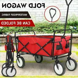 Wagon Cart Kid Beach Collapsible Folding Camping Trolley Gar