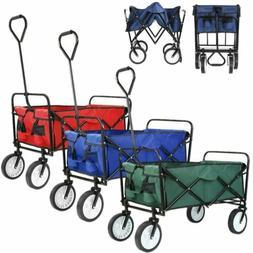 Wagon Cart Kid Beach Collapsible Folding Garden Trolley Camp