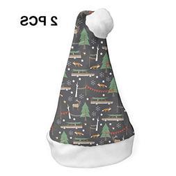 YISHOW Wagon Christmas Classic Handmade Soft Christmas Hat a