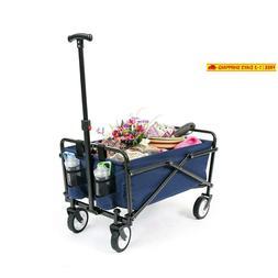 Ysc Wagon Garden Folding Utility Shopping Cart,Beach Red