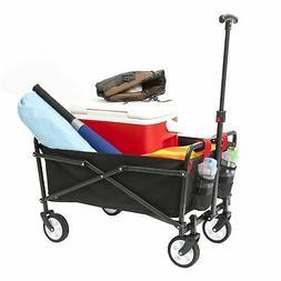 YSC Wagon Garden Folding Utility Shopping Cart,Beach Red (Na