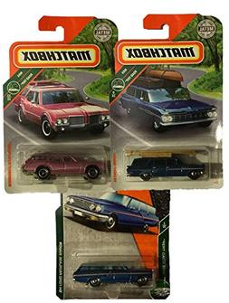 Matchbox 3 Pack Wagon MBX Road Trip Bundle with '64 Ford Fai