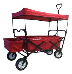 EasyGoProducts Wagon Red Folding Collapsible Utility, Fits i