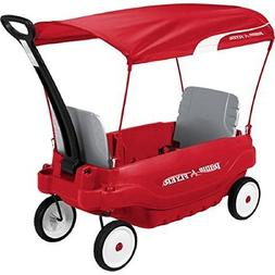 All Weather Fun Radio Flyer Deluxe Family Canopy Wagon, Red/