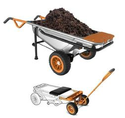 WORX WG050 Aerocart 8-in-1 Wheelbarrow/Garden Cart/Dolly + W