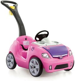 Step2 Whisper Ride II Kids Pink Ride On Push Car - New in Br