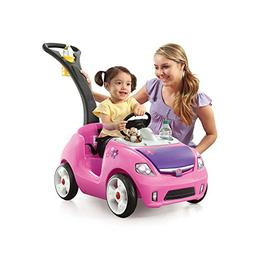 Whisper Ride II Push Car- Made With Durable Plastic- Pink in