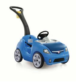 step2 whisper ride ii ride on push car blue