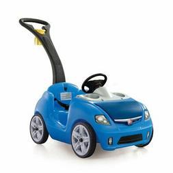 Step2 Whisper Ride II Ride On Push Toddler Car For Kids, Blu