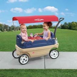 Step2 Whisper Ride Touring Wagon Plastic Canopy Wagon for Ki