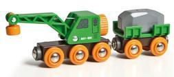 Brio Wooden Railway Trains Train Clever Crane Wagon 33698 4