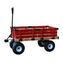 Millside Industries 1500-513 20 in. x 38 in. Wooden Wagon wi