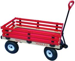 Millside Industries 1600-410 20 in. x 38 in. Wooden Wagon wi